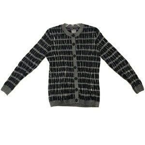 Carlisle Striped Button-Down Cardigan, Size L